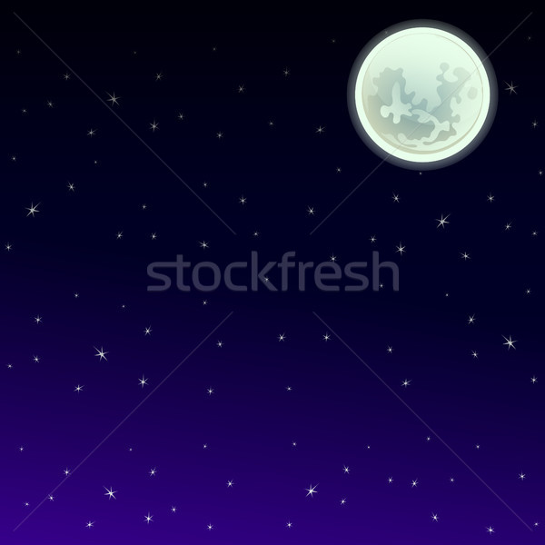 Poster in style of holiday all evil Halloween. The night sky at midnight by the light of full moon w Stock photo © Lady-Luck