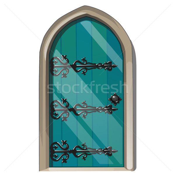 Entrance door in the medieval style. Vector illustration. Stock photo © Lady-Luck