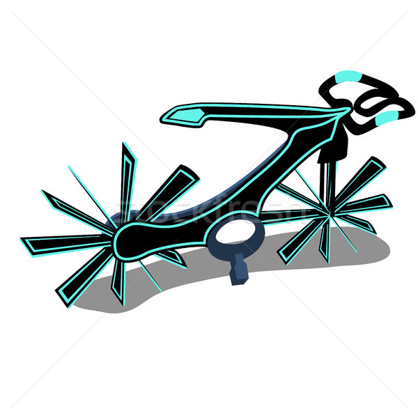 The bike is a new generation isolated on a white background. Cartoon vector close-up illustration. Stock photo © Lady-Luck