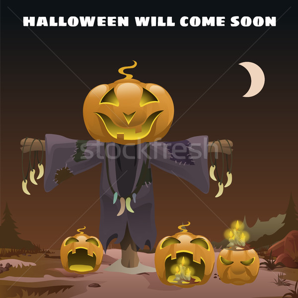 Affiche style vacances tous mal halloween Photo stock © Lady-Luck