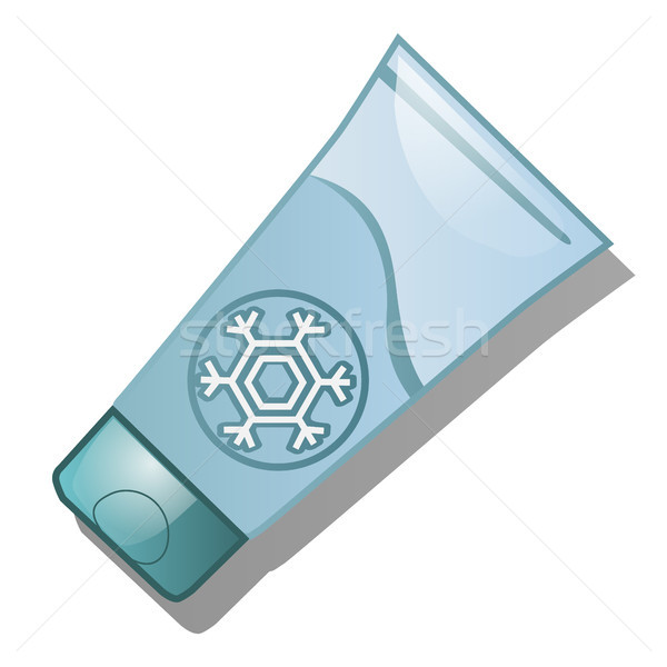 A tube of protective cream from the cold isolated on white background. Vector cartoon close-up illus Stock photo © Lady-Luck