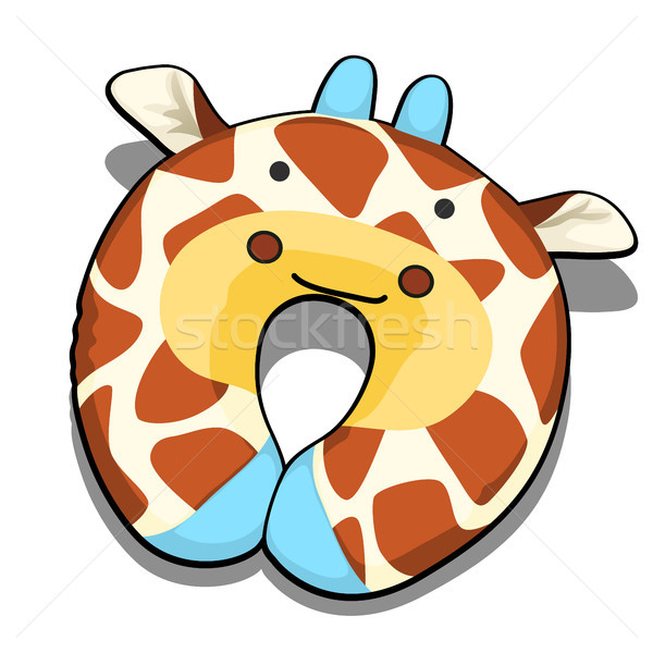 Neck pillow textured giraffe isolated on white background. Vector illustration. Stock photo © Lady-Luck