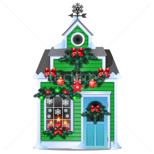 Рождества подарок форме деревенский дома Сток-фото © Lady-Luck