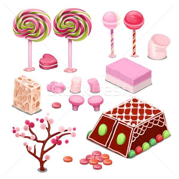 Bonbons bonbons isolé blanche coloré meilleur Photo stock © Lady-Luck