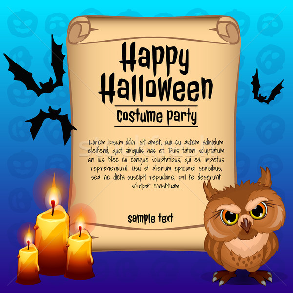 Poster halloween vacanze sketch spazio testo Foto d'archivio © Lady-Luck