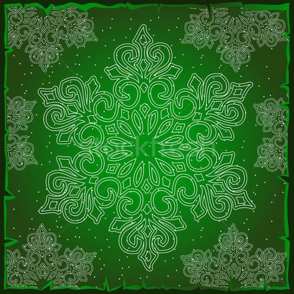 örnek Noel renkli kağıt ambalaj doku kar taneleri Stok fotoğraf © Lady-Luck