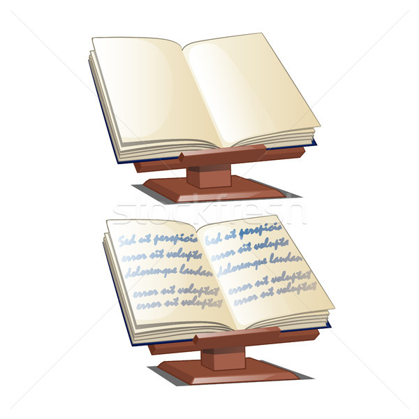 Bookends. School stand for books isolated on white background. Vector cartoon close-up illustration. Stock photo © Lady-Luck