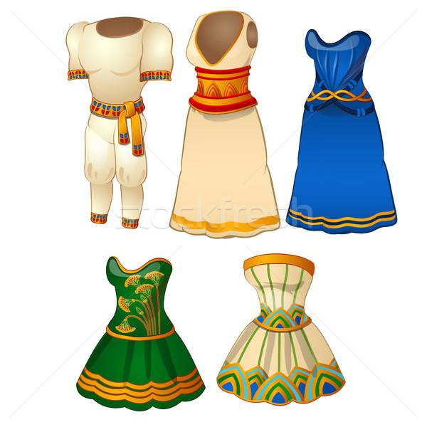 Conjunto roupa estilo antigo Egito moda Foto stock © Lady-Luck