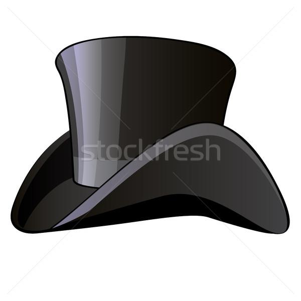 Cylinder hat vintage odzież odizolowany biały Zdjęcia stock © Lady-Luck