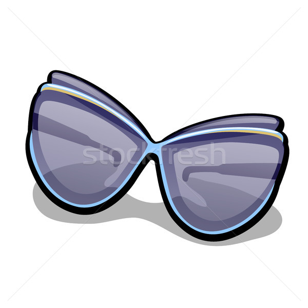 Modern womens fashionable sunglasses isolated on white background. Vector cartoon close-up illustrat Stock photo © Lady-Luck