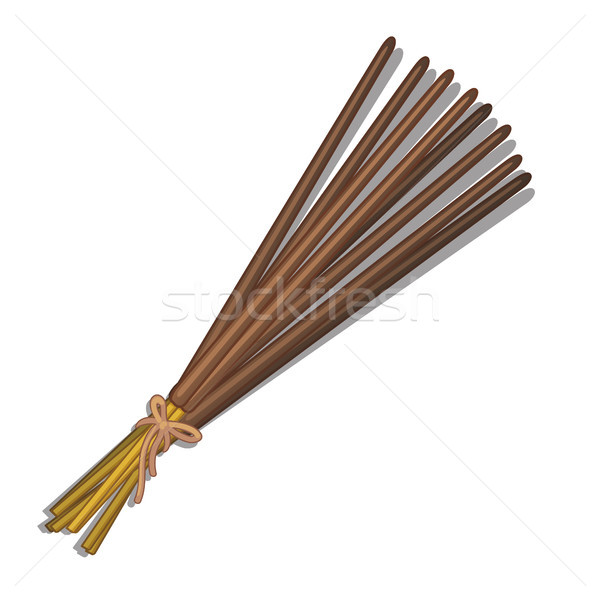 Eastern incense sticks isolated on white background. Vector cartoon close-up illustration. Stock photo © Lady-Luck