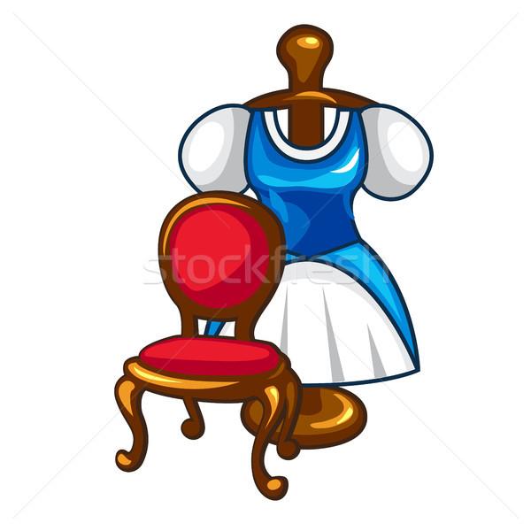 Klasszikus szoba nők szépség művészet bútor Stock fotó © Lady-Luck