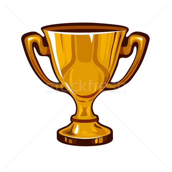 Golden goblet isolated on white background. Vector illustration. Stock photo © Lady-Luck