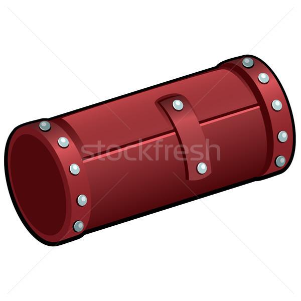 Piros bőr kozmetikai cső izolált fehér Stock fotó © Lady-Luck