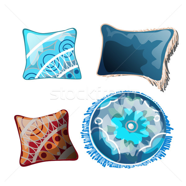 Set of cushions for the interior. Vector illustration. Stock photo © Lady-Luck
