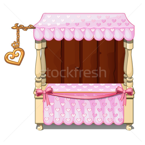 Street kiosk to sell Souvenirs and gifts for loved ones isolated on white background. Vector cartoon Stock photo © Lady-Luck