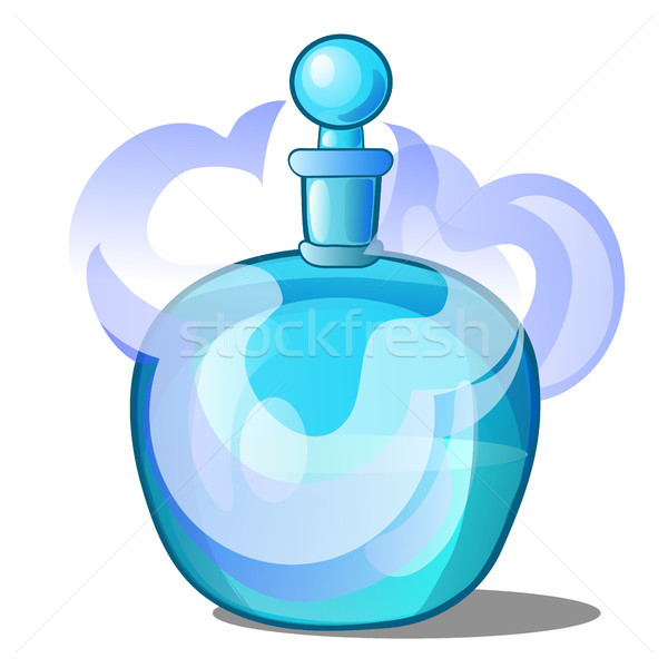 Glass bottle with scented liquid. Vector illustration. Stock photo © Lady-Luck