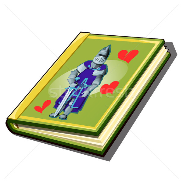 The book with the cover with a picture of a knight isolated on white background. Antique romance nov Stock photo © Lady-Luck