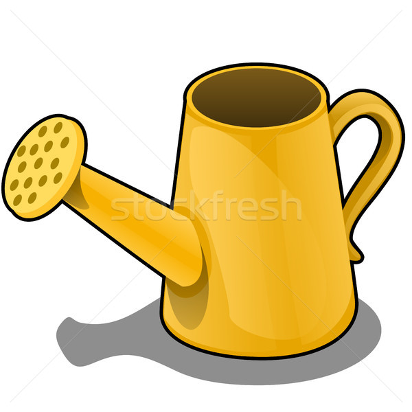 Cartoon the watering can is of orange color isolated on white background. Vector illustration. Stock photo © Lady-Luck