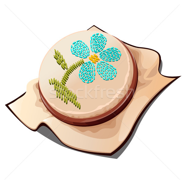 Hoops for embroidery with the image of a flower. Vector illustration. Stock photo © Lady-Luck
