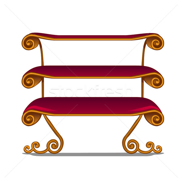 Ornate shelving unit in vintage style isolated on white background. Vector illustration. Stock photo © Lady-Luck