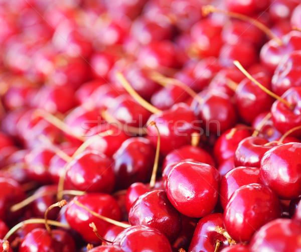 Ciliegie frutta estate ciliegio fresche sani Foto d'archivio © Laks