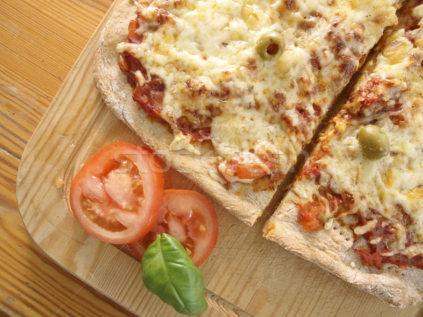 Pizza pezzo pasto italiana Foto d'archivio © Laks