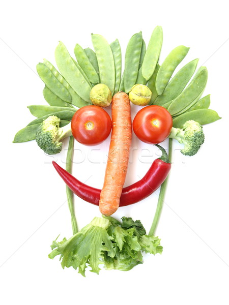 Vegetable Face  Stock photo © Laks