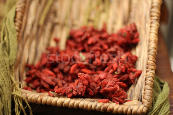 Frutti di bosco basket alimentare rosso sani Foto d'archivio © Laks