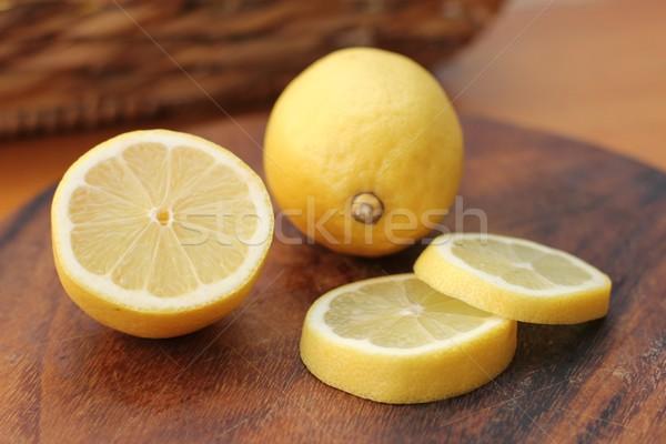 Limoni frutta limone fresche taglio sani Foto d'archivio © Laks