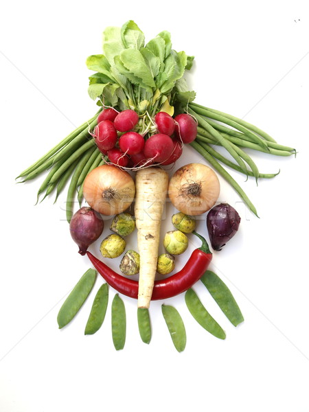 Stock photo: Vegetable Face