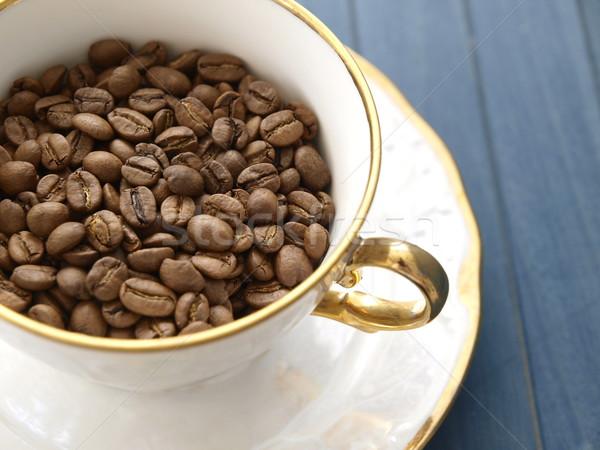 Caffè chicchi di caffè Cup energia buio bean Foto d'archivio © Laks