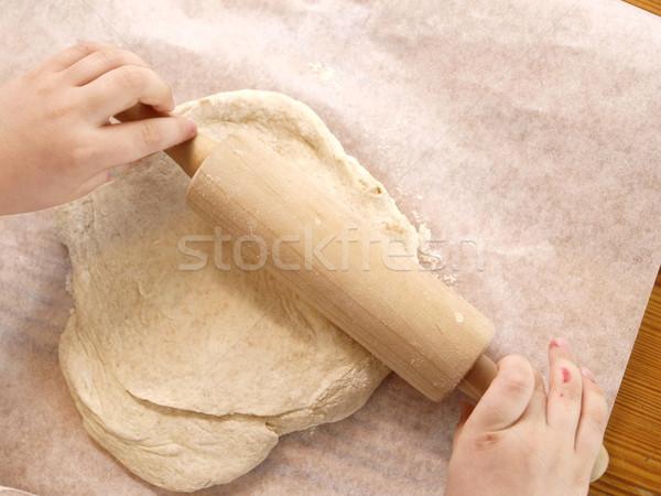 Cottura mattarello mani Foto d'archivio © Laks