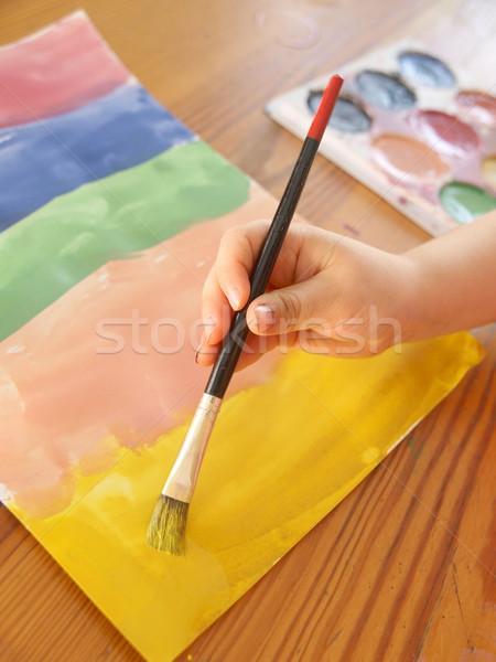 Pittura mano acqua colori vernice Foto d'archivio © Laks