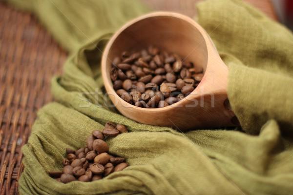 Chicchi di caffè bere Cup bean rosolare Foto d'archivio © Laks