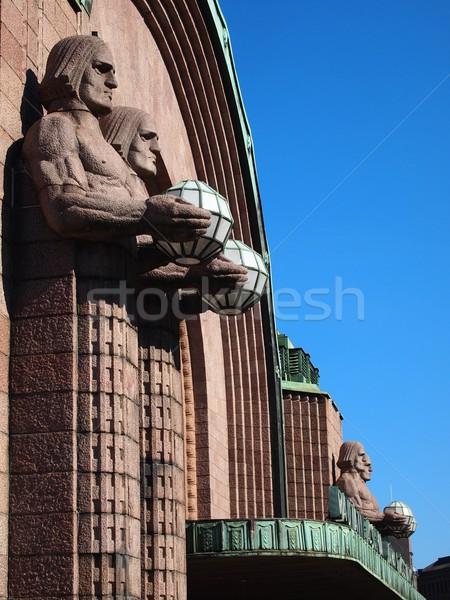 Helsinki gare ville bleu Photo stock © Laks