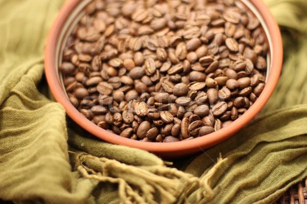 Chicchi di caffè caffè piatto fagioli bean rosolare Foto d'archivio © Laks