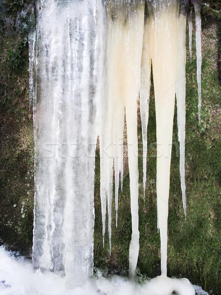 Kar buz yeşil kış çağlayan sezon Stok fotoğraf © Laks