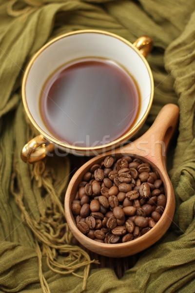 Caffè tazza di caffè fagioli bere Cup bean Foto d'archivio © Laks