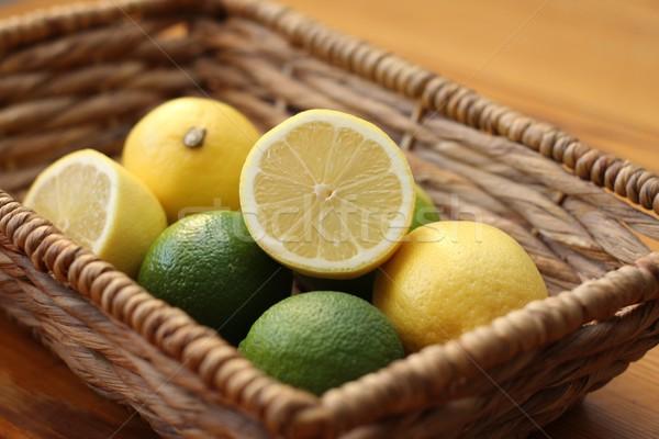 Limoni frutti calce giallo taglio sani Foto d'archivio © Laks