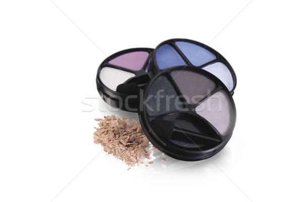 Oog schaduwen cosmetica geïsoleerd witte gezicht Stockfoto © lalito