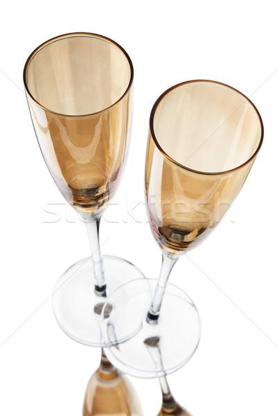 Stok fotoğraf: şampanya · gözlük · tost · yalıtılmış · beyaz · mutlu