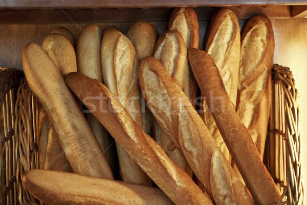 Baguette frans verkoop bakkerij restaurant groep Stockfoto © lalito
