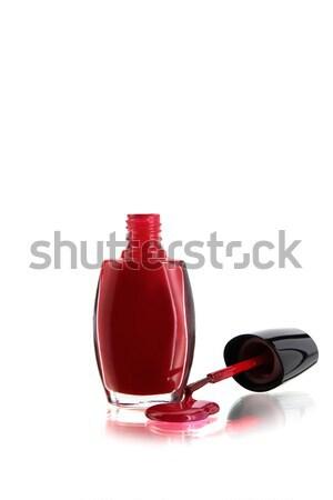 Kozmetik tırnak güzellik kadın fırçalamak çivi Stok fotoğraf © lalito