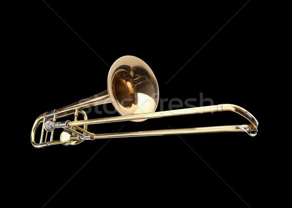 Messing slide metaal goud band orkest Stockfoto © lalito