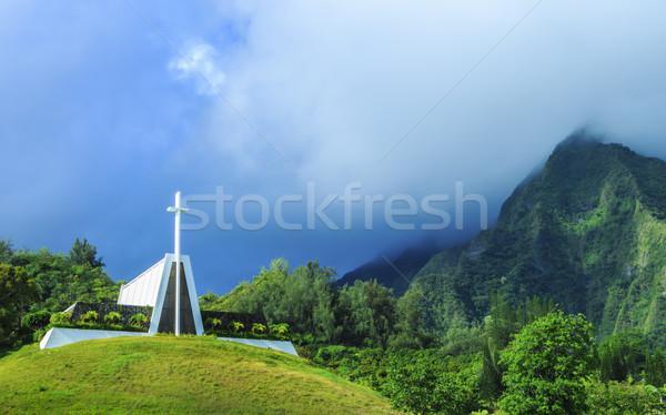 храма холме похороны долины гор облака Сток-фото © LAMeeks