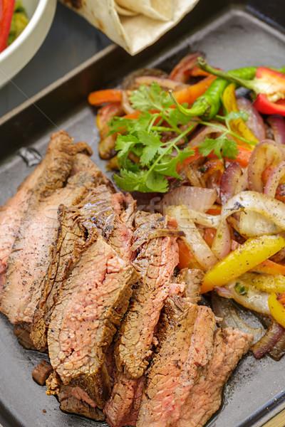 牛肉 ファヒータ 野菜 オレンジ 緑 ディナー ストックフォト © LAMeeks