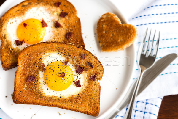 Egg In A Hole Stock photo © LAMeeks
