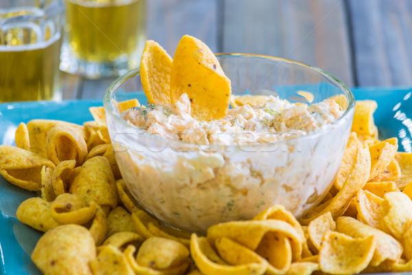ディップ クリーム チーズ 務め チップ 食品 ストックフォト © LAMeeks