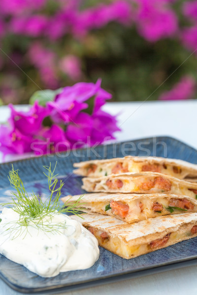 Spicy Spam Quesadilla Stock photo © LAMeeks